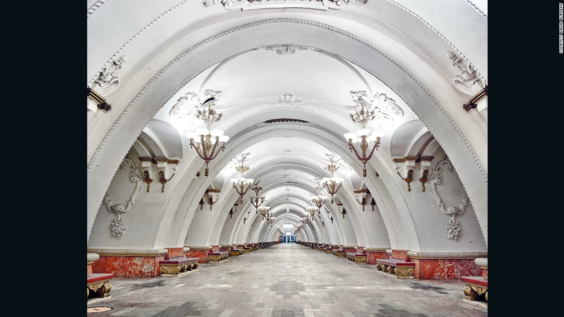 Vancouver photographer David Burdeny photographed Moscow's most majestic metro stations.