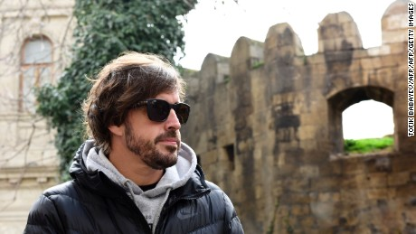 McLaren driver Fernando Alonso visited Azerbaijan capital Baku in March to check on progress of the city's new street circuit.