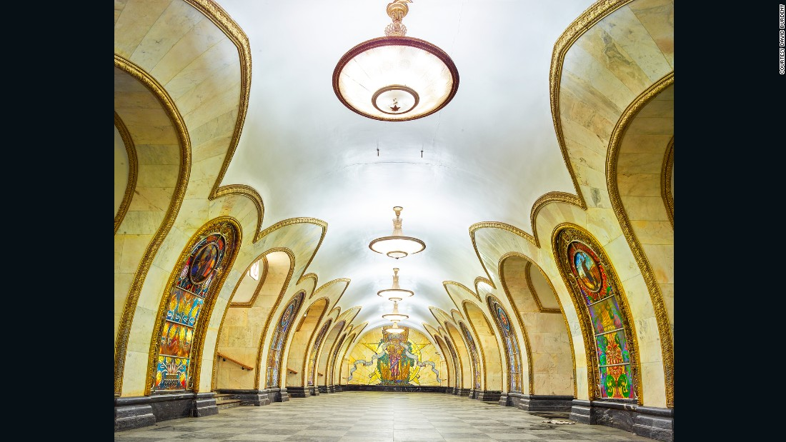 Impressively, Novoslobodskaya Metro Station features 32 stained glass panels by Latvian artists.