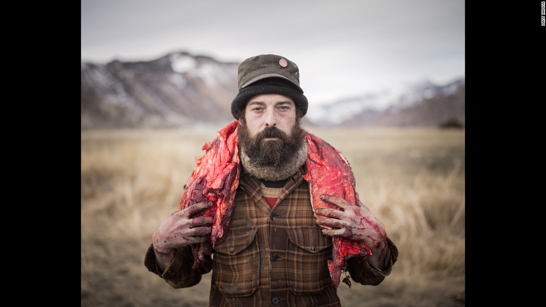 Josh carries a buffalo backstrap from the hunting ground.