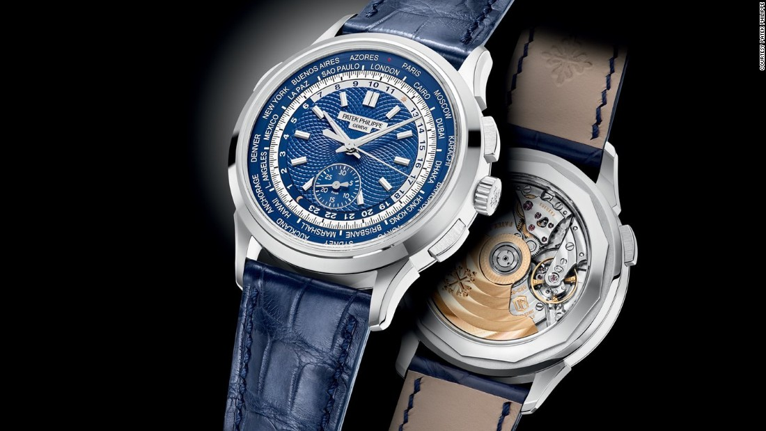 This is a combination of one of Patek Philippe's signature complication -- a world time complication showing the time in 24 different time zones. It is, in fact, the world's smallest and thinnest world-timer chronograph, period.