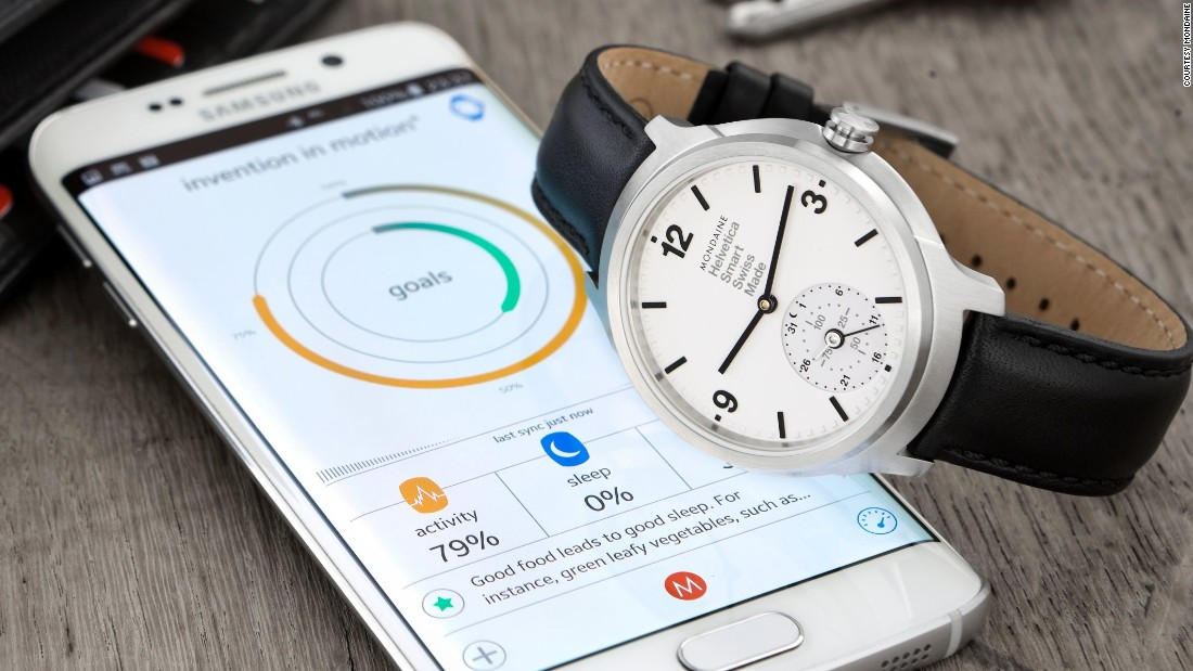 Swiss brand Mondaine unveiled their smartwatch with an analogue face last year. It is thought to be the first Swiss watch to combine traditional watchmaking with connected technologies.