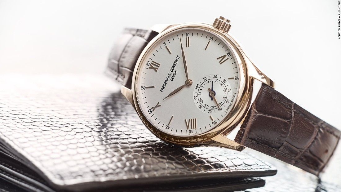 This year Frederique Constant has added a world timer to the new version of its Horological Smartwatch. With no digital screen the watch's hands analogically display information, but it connects to your smartphone, tracking sleep patterns, walking and running activity.