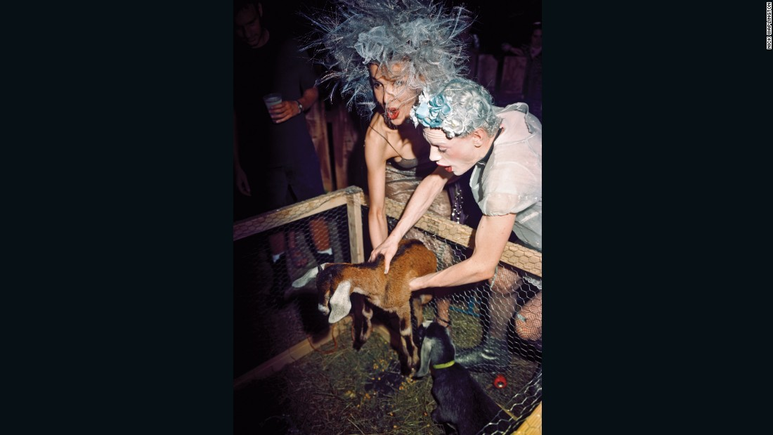 A goat in a club by Nick Waplington, <em>The Isaac Mizrahi Pictures</em>