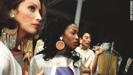Naomi Campbell backstage by Nick Waplington, The Isaac Mizrahi Pictures
