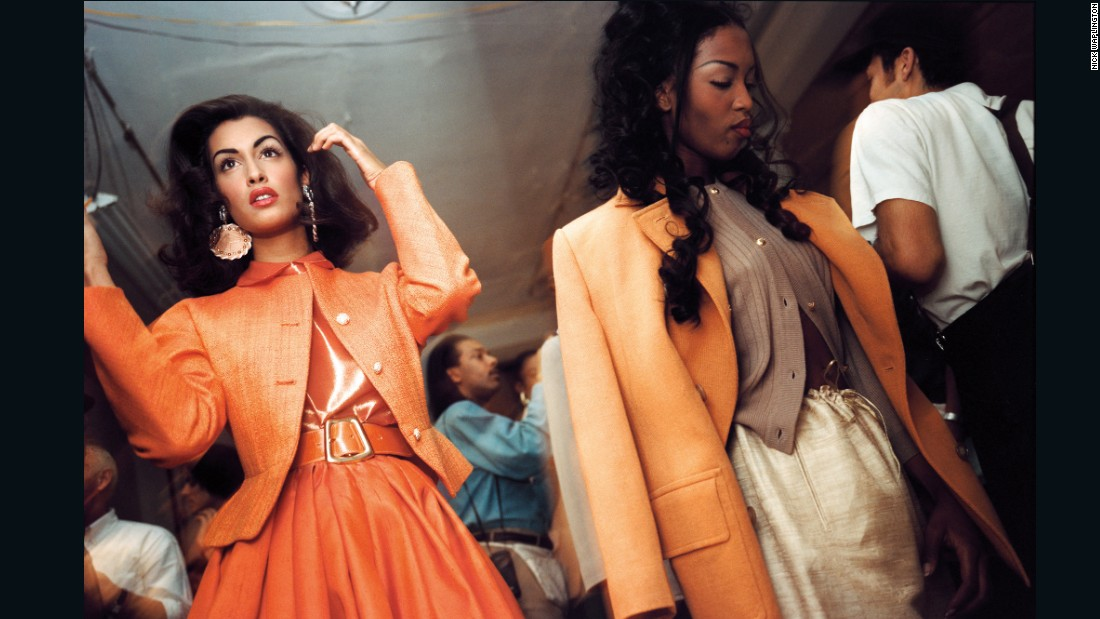 Naomi Campbell backstage by Nick Waplington, <em>The Isaac Mizrahi Pictures</em>