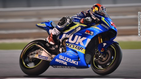 Maverick Vinales of Suzuki