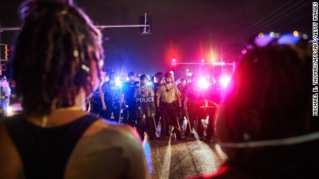 The shooting of Michael Brown by police officer Darren Wilson in August 2014 threw a spotlight on race relations in Ferguson.