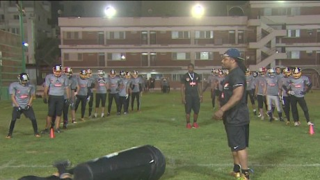 NFL players hold training camp in Egypt