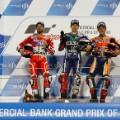 MotoGP: Qatar podium Dovizioso Lorenzo Marquez