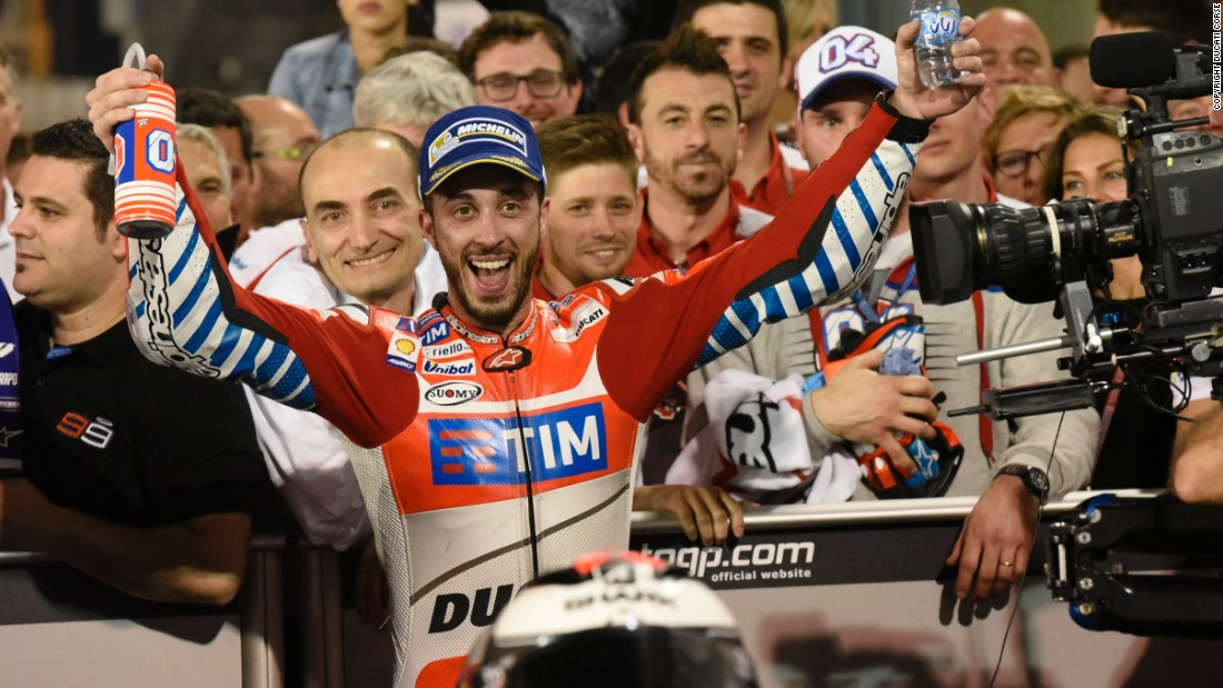 "Dovizioso was clearly delighted at his strong showing. ""Starting off the season like this is a dream. I am really happy,"" the popular Italian told reporters after the race."