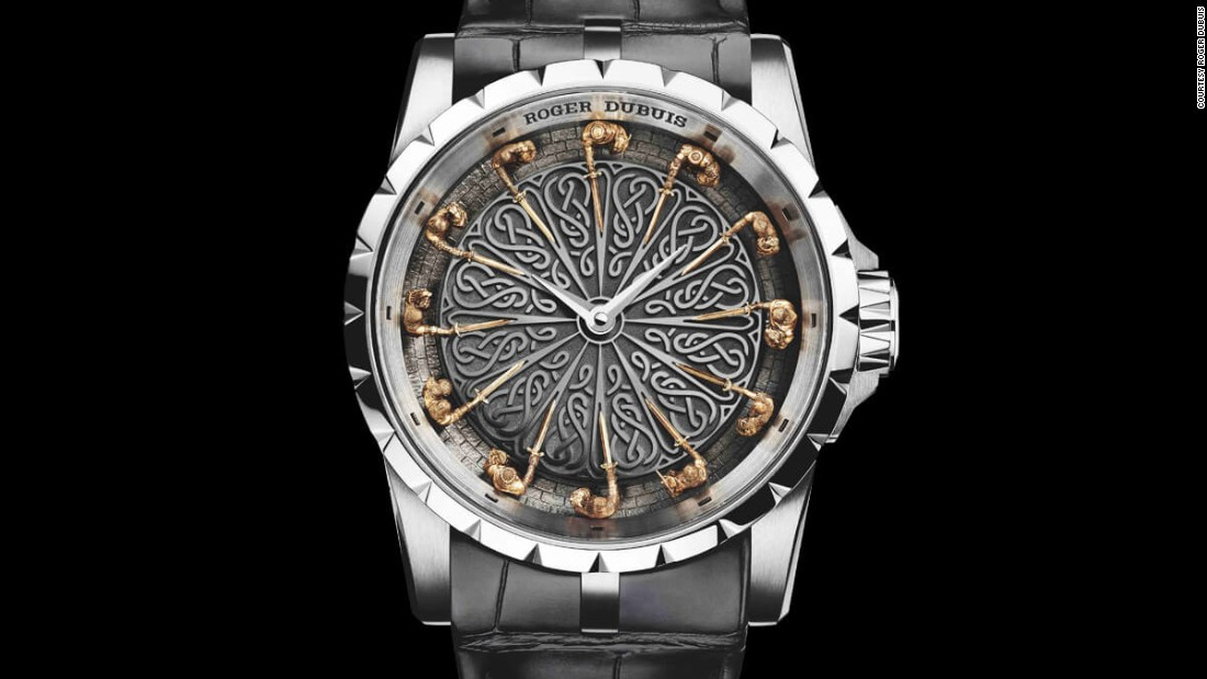 Roger Dubuis' Knights of the Round Table dial reveals a legendary warrior sat at each of the indices, each 6.5mm tall and sculpted in bronze under a microscope.
