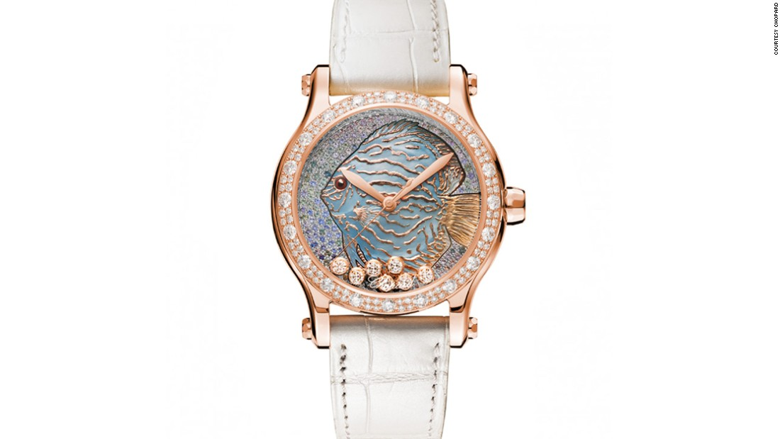 Chopard's The Happy Fish uses fleurisanne engraving to create motifs in high relief.