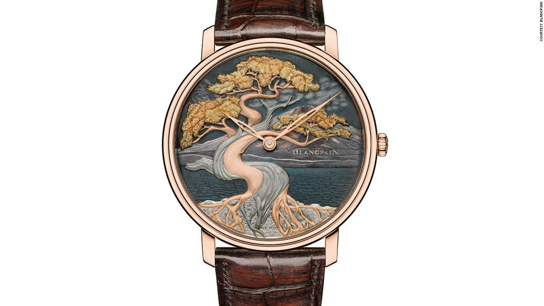 Blancpain is renowned for its enamel painting and engraving techniques. Similar to The Great Wave, the Bonsai is another piece in the Les Métiers d'Art Shakudō collection, which is the first time this Japanese alloy has been used in horology.