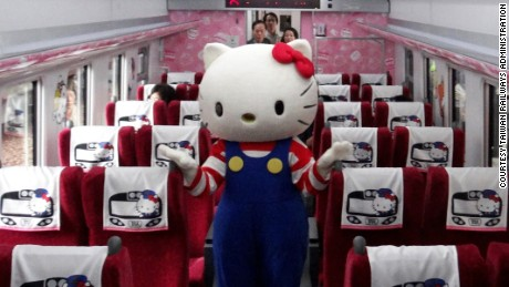 Hello Kitty-themed express train launches in Taiwan