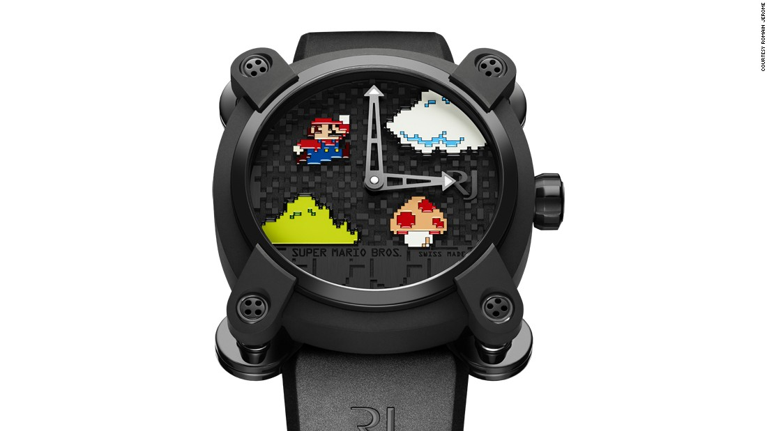 Manuel Emch, CEO of Romaine Jerome, stresses that such decorative arts need not always look backwards. His brand's latest watches use miniature painting on a lava stone dial, tattooed straps and employ enameling to create video game characters.