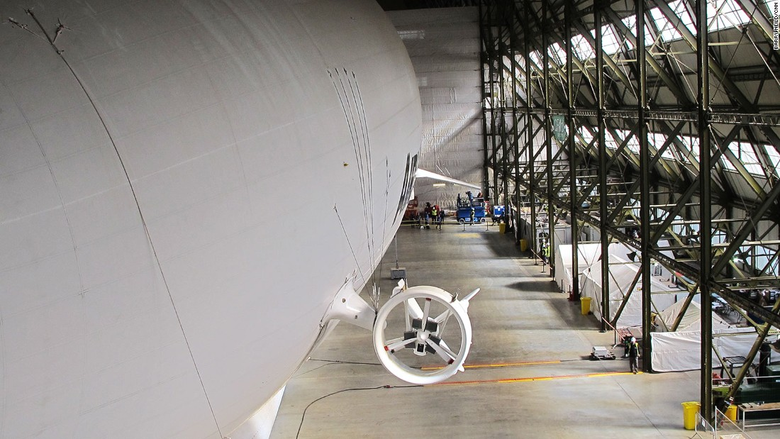 Designed originally for military surveillance, the Airlander's engines operate independently to increase safety. If all four failed, it could still drift to a safe landing.
