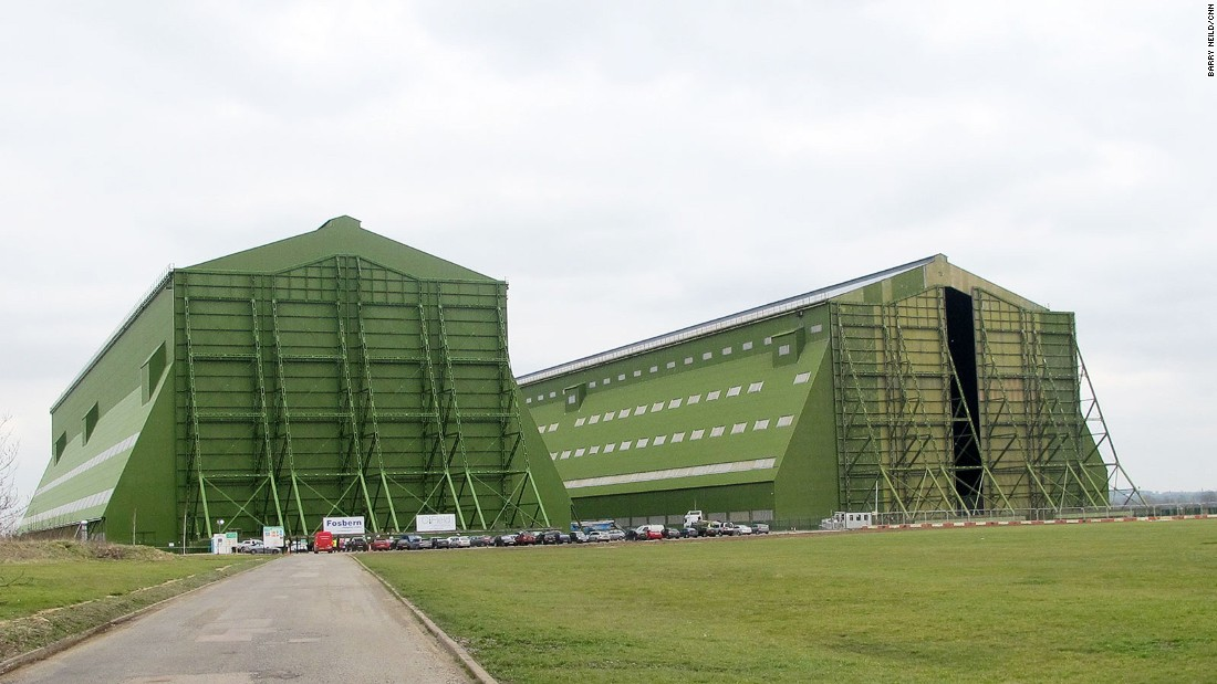 Airlander 10 is housed in one of the largest air hangars in the world. The building was once home to the doomed R101, a massive hydrogen-filled airship that crashed in 1930.