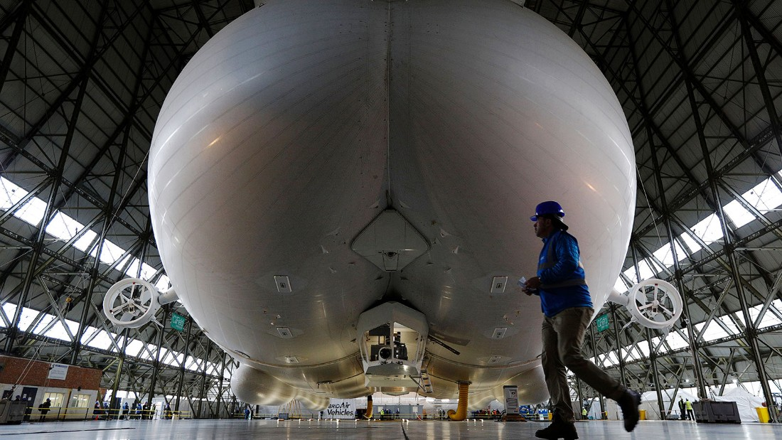 "Unkind observers have nicknamed Airlander the ""flying bum,"" claiming it looks like a human posterior."