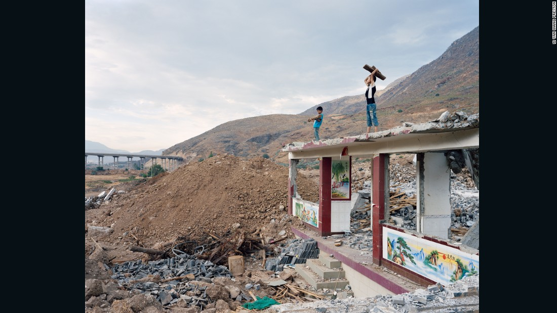 """""""Western photographers don't have this sentimental relationship with the Mother River, and I thought that by photographing more ordinary landscapes, I could try to subvert the known version of the Yangtze,"""" Preston says."""