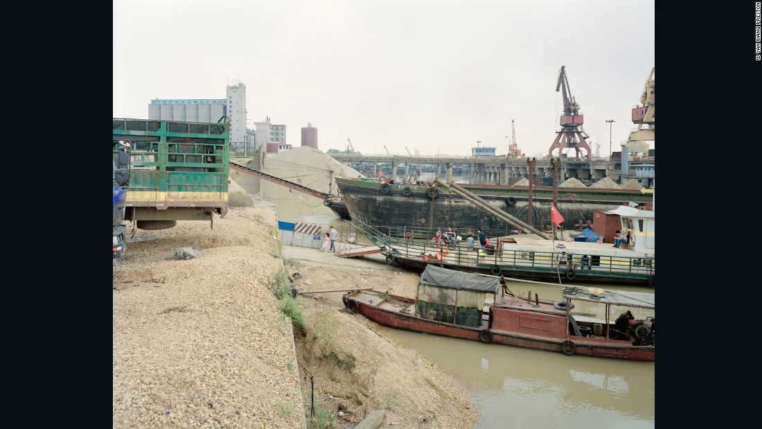 """The images of the Yangtze River I saw when I came to London looked very different to the beautiful and picturesque way it is typically depicted in China,"" Preston says."