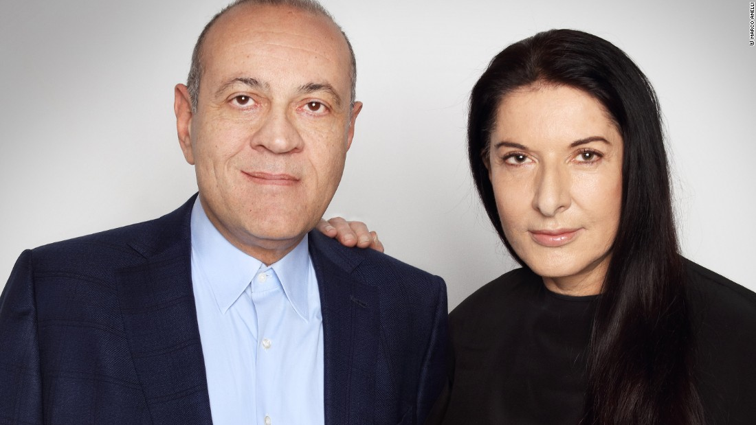 Marina Abramovic and Dimitris Daskalopoulos, founder of NEON