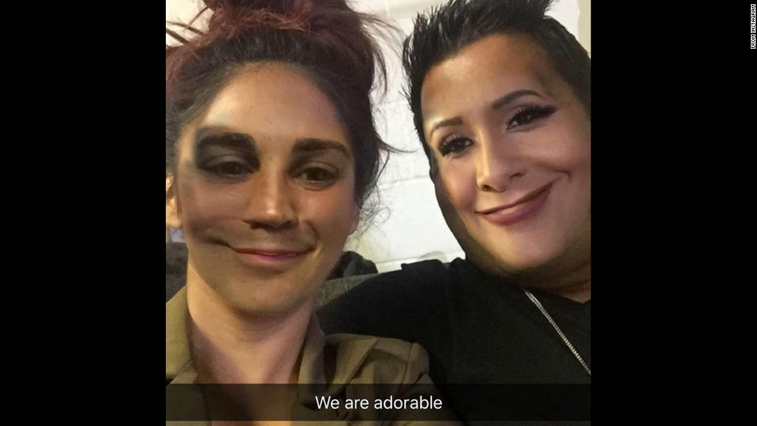 "Television personality Nicole ""Snooki"" Polizzi takes a Snapchat ""face swap"" with her husband, Jionni LaValle, on Sunday, March 20. She posted it <a href=""https://www.instagram.com/p/BDMETmYBjlc/?hl=en"" target=""_blank"">to her Instagram account.</a>"