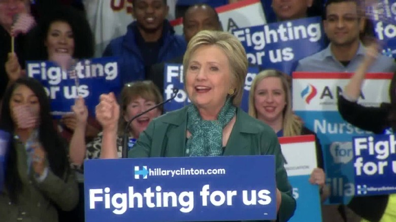 Clinton: Contest between fundamentally different views