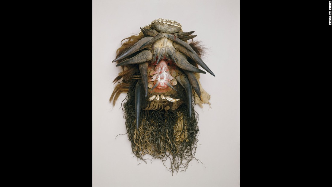 "Masks have long been used by African artists to define relationships between individuals, communities, the environment and to challenge the status quo.<strong> </strong>Pictured: ""Mask (Gela)"", Unidentified We artist, Liberia or Cote d'Ivoire."