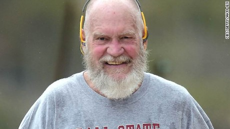 David Letterman is nearly unrecognizable with his snowy beard as he gets in a morning work out around the Caribbean islands. The retired late-night talk show host resembled Santa Claus with his newly grown beard and smile.