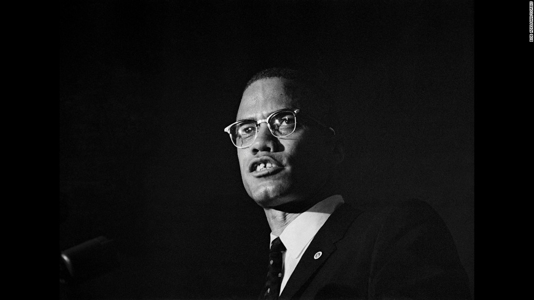 Malcolm X participates in a debate in January 1962.