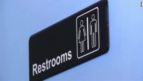 A map drawn in response to a North Carolina law shows safe bathrooms for transgender people.