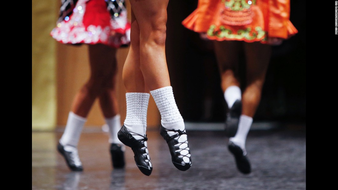 Competitors take part in the World Irish Dancing Championships in Glasgow, Scotland, on Wednesday, March 23.