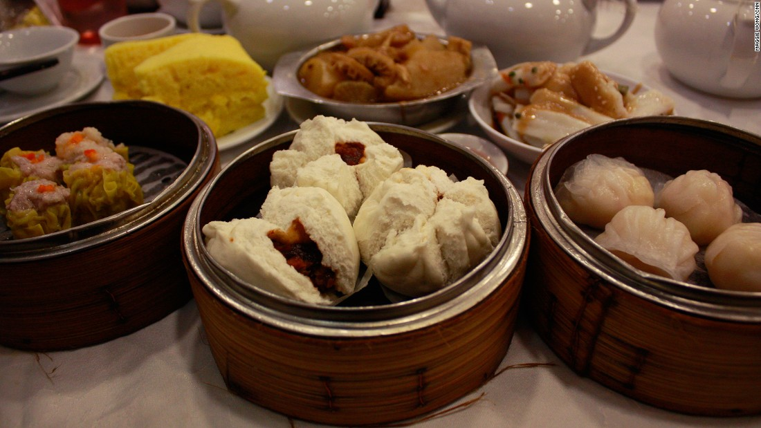 Apart from dim sum classics such as har gau, or a bright yellow and Malay sponge cake, Tai Wing Wah serves a delicious rustic white rice mixed with lard and soy sauce.