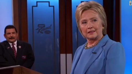 Kimmel shows Clinton how to curb the 'shrill'