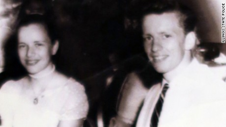 McCullough, then John Tessier, with high school girlfriend Jan Edwards, now Jan Swafford, at a formal dance.