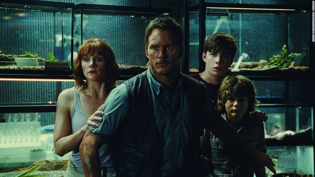 "<strong>""Jurassic World""</strong>: Bryce Dallas Howard, Chris Pratt, Ty Simpkins and Nick Robinson star in the 2015 installment of the series about a theme park populated by cloned dinosaurs. <strong>(HBO Now)</strong>"