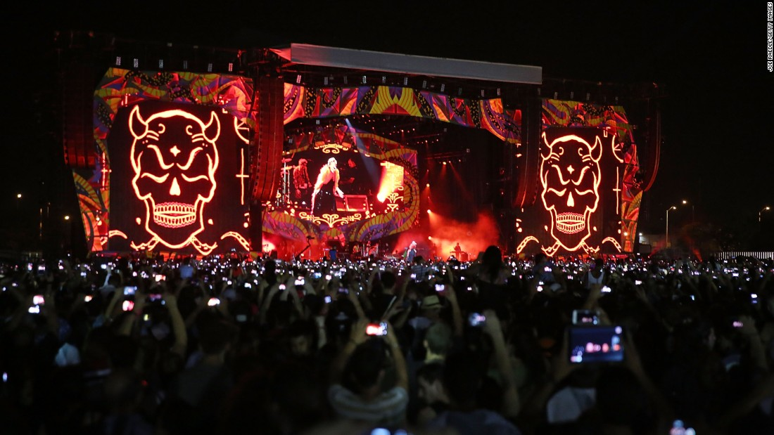 """""""Years ago it was difficult to hear our music but here we are,"""" Rolling Stones singer Mick Jagger told the crowd in Spanish. """"The times are changing."""""""