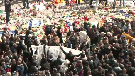 brussels memorial protest clash ward cnni_00010817
