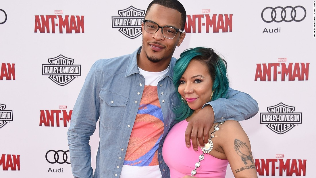 """Rapper T.I. and his wife, Tameka """"Tiny"""" Cottle-Harris, welcomed their third child together, a daughter, on Saturday, March 26. The couple now have a total of seven children, and the family stars in the VH1 reality series """"T.I. & Tiny: The Family Hustle."""""""
