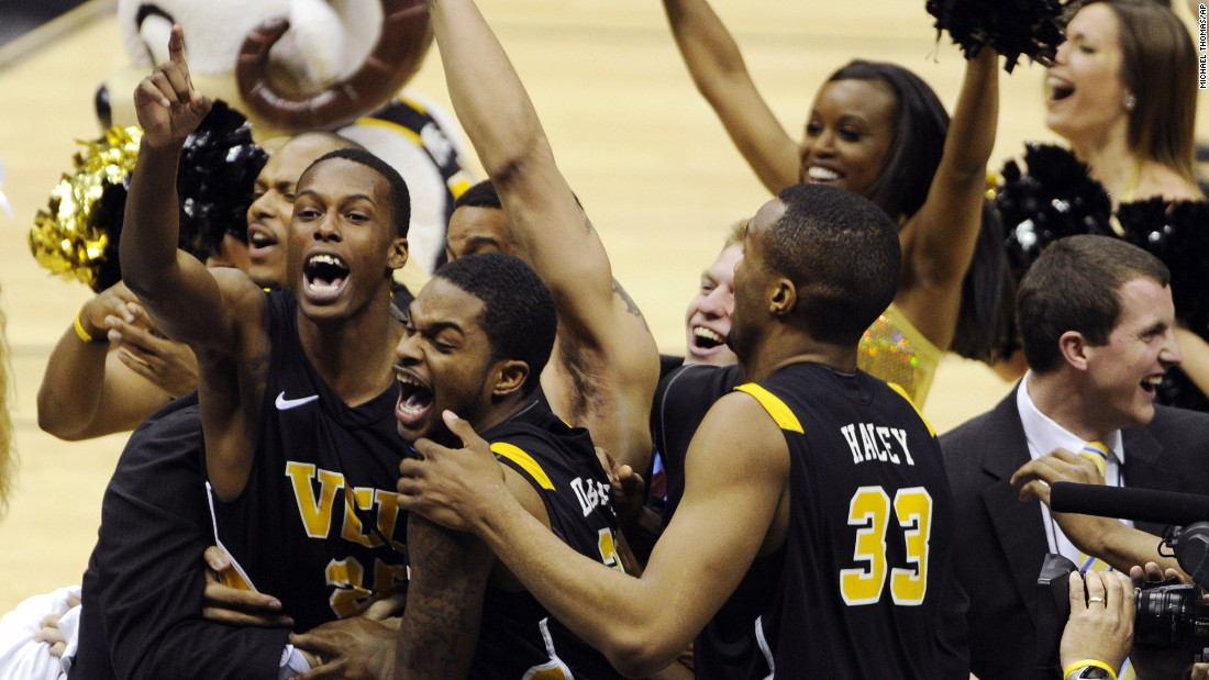 No. 11 Virginia Commonwealth University, led by second-year head coach Shaka Smart, became the first team to advance to the Final Four who started the tournament in The First Four, the opening round in which four teams advanced to the round of 64. To get there, VCU took down No. 1 Kansas, 71-61. VCU went on to lose to last season's Cinderella, No. 8 Butler, in the Final Four.