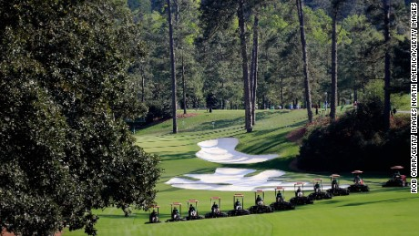 Augusta's mowers take a regimented approach to grass cutting.