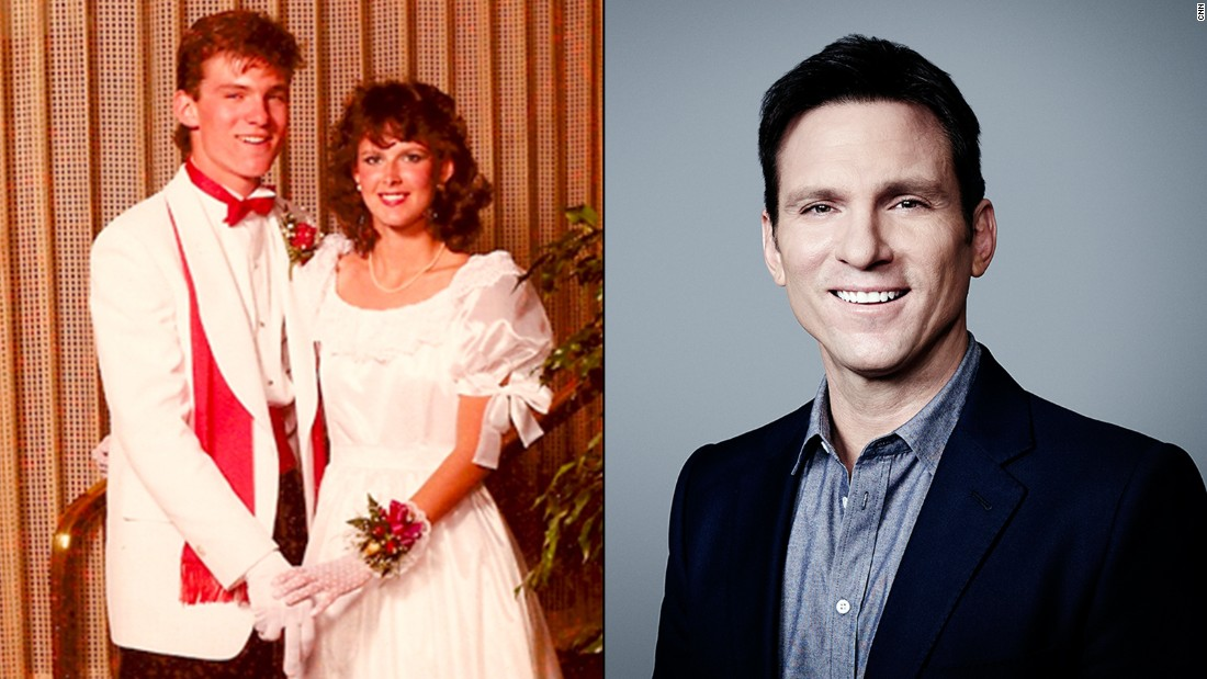 "What do you get when you cross a crimson-red cummerbund and bow tie with a signature scarf and a pair of white gloves? The future ""Wonder List"" host Bill Weir in a classic 1985 prom photo!"
