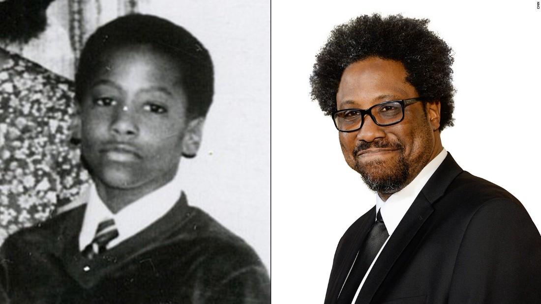 "A crisp white shirt and elegant tie is always in style! At left, future ""United Shades of America"" host Kamau Bell poses for his grandmother's 75th birthday in 1981."