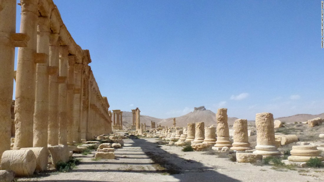 Part of the ancient city of Palmyra. The UNESCO world heritage site was widely feared to have been razed by ISIS militants.