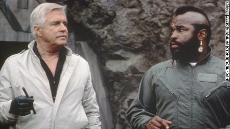 THE A-TEAM -- Pictured: (l-r) George Peppard as John 'Hannibal' Smith, Mr. T as B.A. Baracus  (Photo by NBC/NBCU Photo Bank via Getty Images)