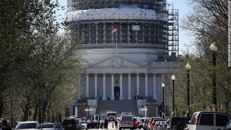 Officials: U.S. Capitol shooter suspect is in custody