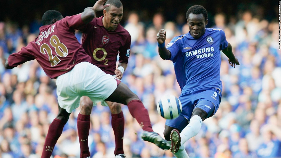 The Ghanian was the midfield heartbeat of Jose Mourinho's best Chelsea team, winning a clean sweep of domestic trophies before injury curtailed his career.