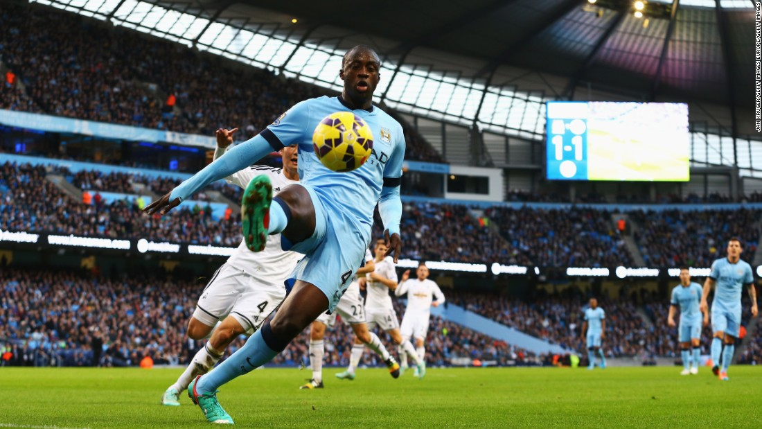 The Ivorian midfielder has been a revelation at Manchester City since arriving from Barcelona in 2010, winning every domestic trophy at least once and scoring over 70 goals.