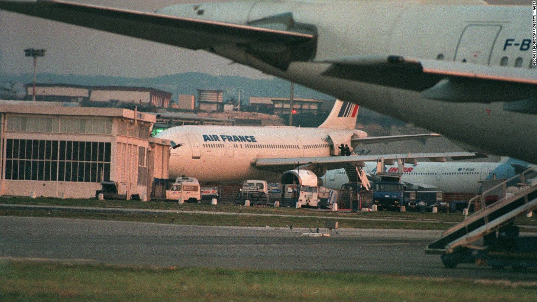 An Airbus A-300 was held by Islamic extremists of the Armed Islamic Group (GIA) at the Marignane airport in Marseille, southern France. Members of the elite French troops GIGN (Intervention Group of the National Gendarmerie) staged a spectacular assault on the hijacked Air France airbus on December 26, 1994, killing four hostage-takers and ending a three-day drama which began in Algiers, where two passengers were shot and killed.